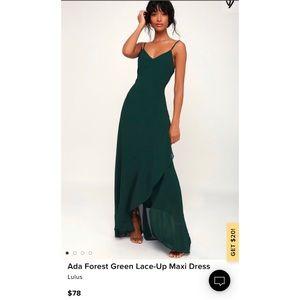 Lulus Ada Forest Green Dress